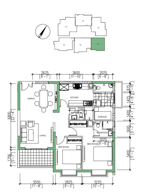 BLOCK G - LEVEL 3 (U1) - Havelock City luxury apartments colombo sri lanka