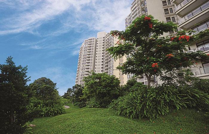 -Havelock City garden. luxury apartments for sale in colombo sri lanka